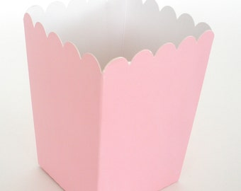 PINK Popcorn Boxes 12 ct. Treat Boxes / Favor Boxes / Candy Boxes /  Popcorn Boxes / Wedding Favors / Birthday Favors