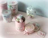 "Miniature dollhouses  ""Macarons tin  "" .Scale 1.12"