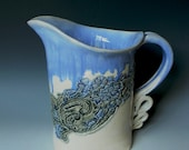 Ceramic Lace Impressed 2 Quart Pitcher