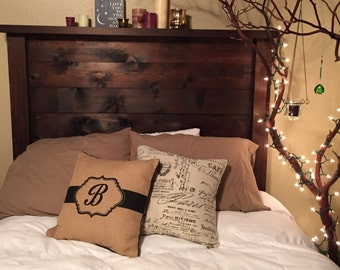 Custom/local order headboard 340.00, rustic headboard, wood, farm, country, shabby chic, handmade, woodwork,yohorubbish
