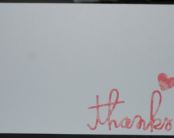 Pink- thank you cards- set of 10