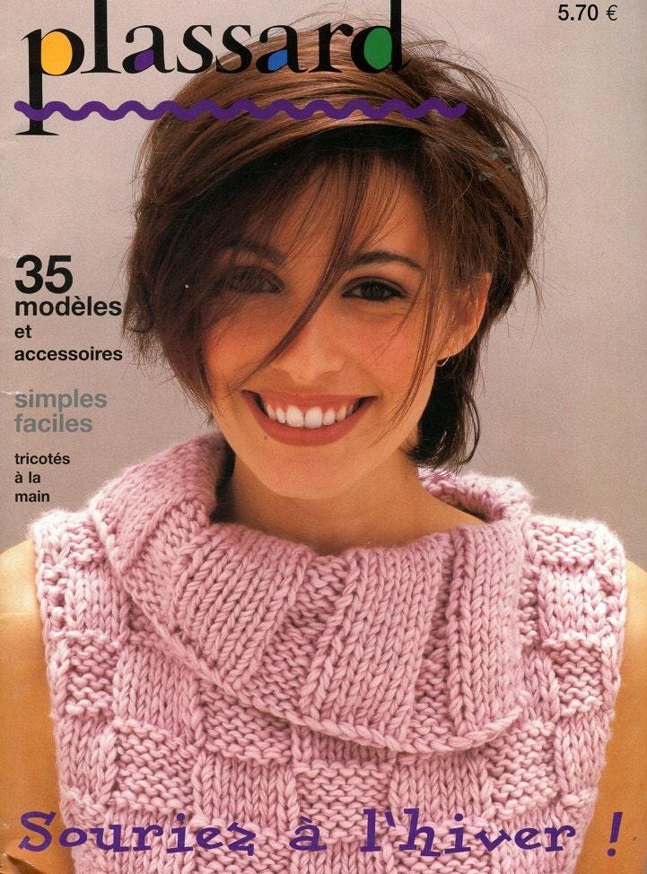 Knitting Magazines Free Patterns : Plassard French Knitting Pattern Magazine in English Over
