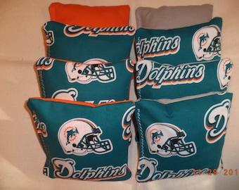 Cornhole bags Miami Dolphins cornhole bean bags 8 ACA Regulaton corn hole bags