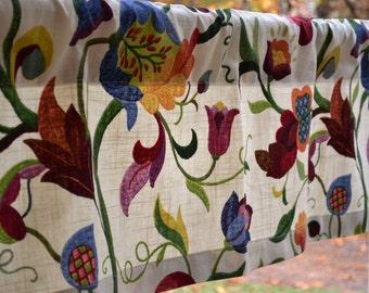 "Valance window treatment 50""x14""  Richloom Gloria Jubilee Fabric, Floral Valance Kids Valance Kitchen Valance home decor Great gift"