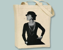 Coco Chanel Canvas Tote Bag - Selection of sizes available