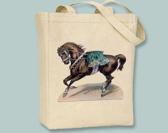 Vintage Circus Horse Canvas tote - Selection of sizes available