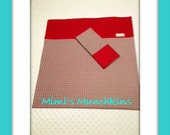 CLEARANCE / Nap Mat Cover & Matching Pillowcase / Day Care / Preschool / Mom's Day Out / Kindergarten / Red - Black Check / Ready to Ship
