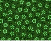 Hunter Flower Fabric for MDG Fabrics/Floral Cotton Quilt Craft Apparel/Fabric by the Yard/Fabric by the Half Yard/Fat Quarter/PRICES Vary