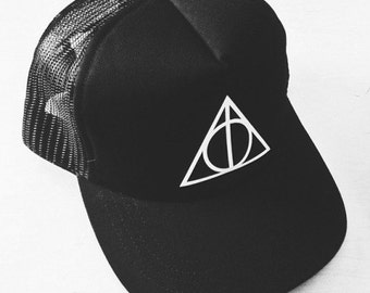Deathly Hallows or Hogwarts or GEEK or NERD Hat - by So Effing Cute - inspired by Harry Potter