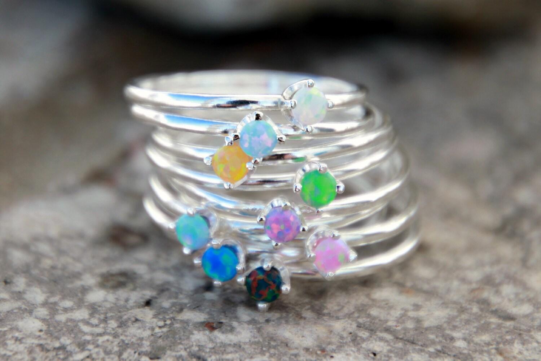 cut opal ring opal ring tiny opal ring opal