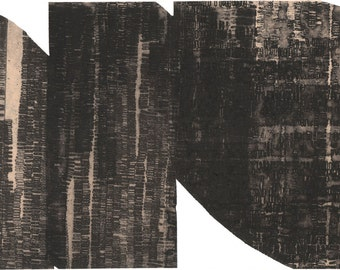 """Contemporary Prints . Art Print Etching . Black and White Home Decor  : Unbound 10. Print Size 12"""" x 19"""" . Unframed"""