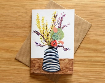 Illustrated Spring Flowers Card
