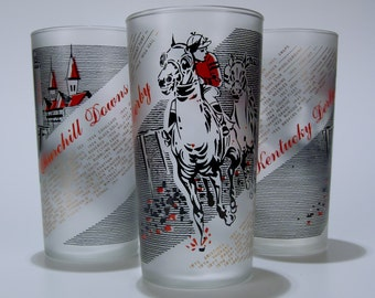 1961 Vintage Kentucky Derby Mint Julep Glass