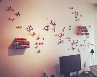 3D Realistic Wall Butterflies- set of 100 Office Decor