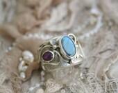 The Priestess Labradorite StarRuby Silver Ring