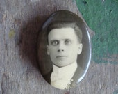 Vintage Photo Pin of a Man with a Bow Tie