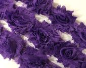 "Purple Petite Shabby Rose Trim 1.5"" small Shabby Flowers Mini Shabby Chiffon Flowers yard Chiffon Flower Shabby Chic Wholesale 3cm #509"