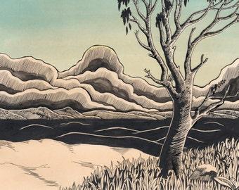Untitled (Gum Tree Landscape)