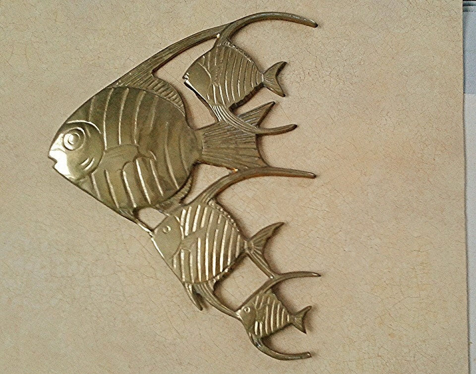 School of fish wall decor vintage fish by plasticpinkflamingos for School of fish wall art
