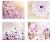 Light Purple Wall Art Set, nature photography floral flower lavender pictures nursery decor baby girls room pale branches botanical photos