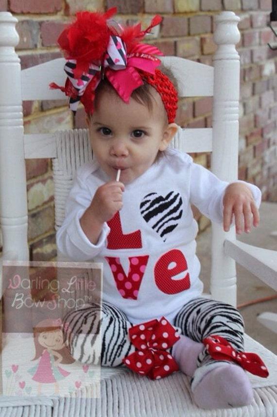 Baby Girl Valentine Outfit SET Little Diva Valentine