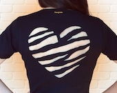 A tiger ripped my heart! Cut-out t-shirt