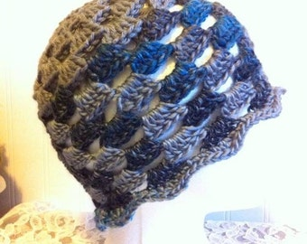 Not So Granny Hat in Grey Ready to Ship