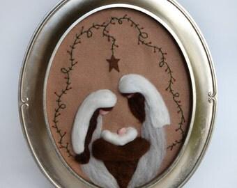 Nativity - Felted Nativity - Christmas Nativity - Nacimiento