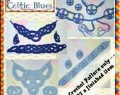 PDF Crochet Pattern Celtic Blues Jewellery