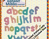 PDF Crochet Pattern Alphabet Mobiles Lowercase