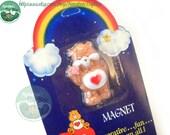 Unopened Vintage Care Bear Magnet: Tenderheart 1980s Mislabeled Packaging