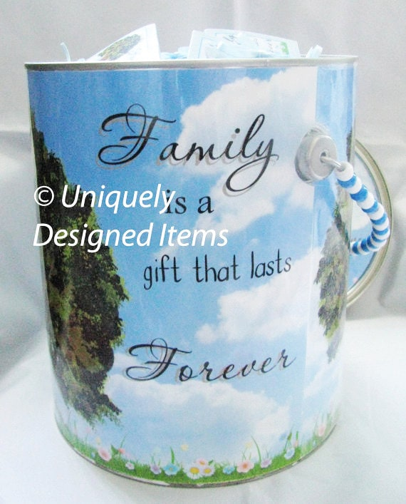 Family reunion gifts keepsake can