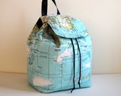 Back To School -World Maps Printed Backpack, Student Backpack,Map Backpack/Travel,School,Daily Backpack/Unisex Rucksack