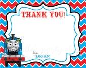 NEW - SET OF 12 Thomas the Train Thank You Notes with envelopes