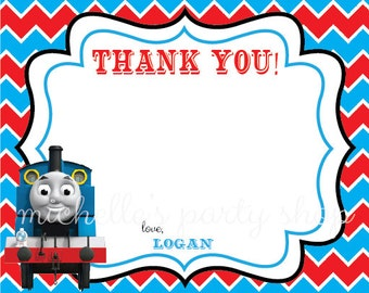 NEW - SET OF 12 Thomas the Train Thank You Notes with envelopes