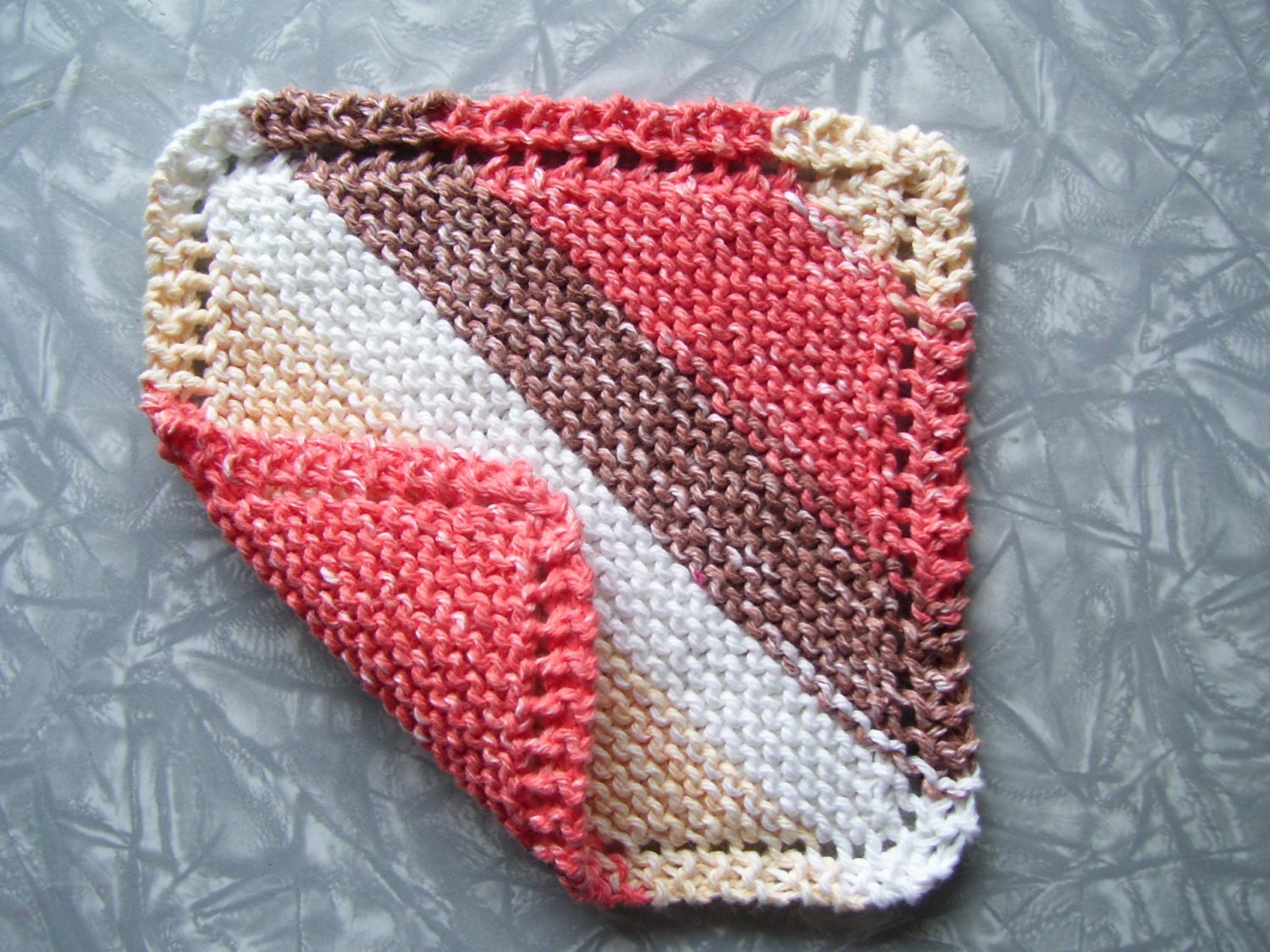 how to knit a cotton washcloth