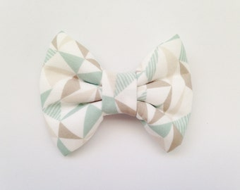 Geometric Pastel Triangles (Modern Handmade Bow / Bow Tie / or Headband)