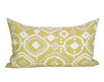 Mendoza lumbar pillow cover in Hay