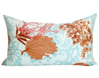 Thibaut Molokini lumbar pillow cover in Coral