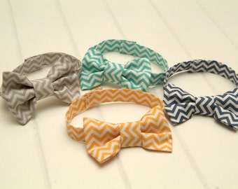 Newborn Bow Tie, Baby to Toddler Chevron Bow Tie, Newborn Photography Prop, Baby Bow Tie, Two Make a Great Twin Set, You Choose The Color