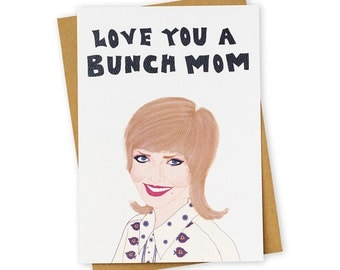 LOVE BUNCHES . TV land . Greeting Card . Mother's Day . Kraft Envelope