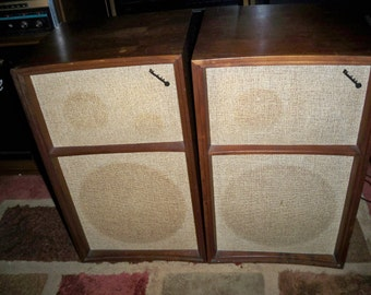 Vintage Pair of 1960's Wharfedale Model W60 Speakers - Made in England
