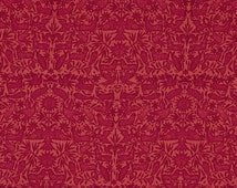"Dark Pink Fabric, ""Estonia"" by Ty Pennington in Hot Rose, 100% Cotton Fabric - Great for Quilting, Crafting, Sewing!"