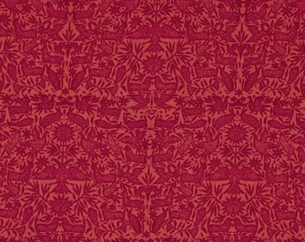 """Rare Out of Print Pink Fabric, """"Estonia"""" by Ty Pennington in Hot Rose, 100% Cotton Fabric - Great for Quilting, Crafting, Sewing!"""