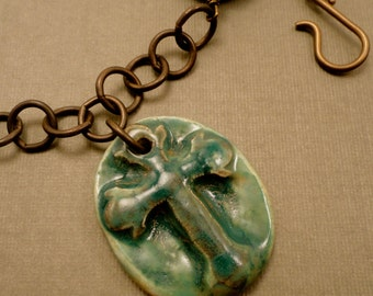 On-the-Bayou Cross Pendant Necklace