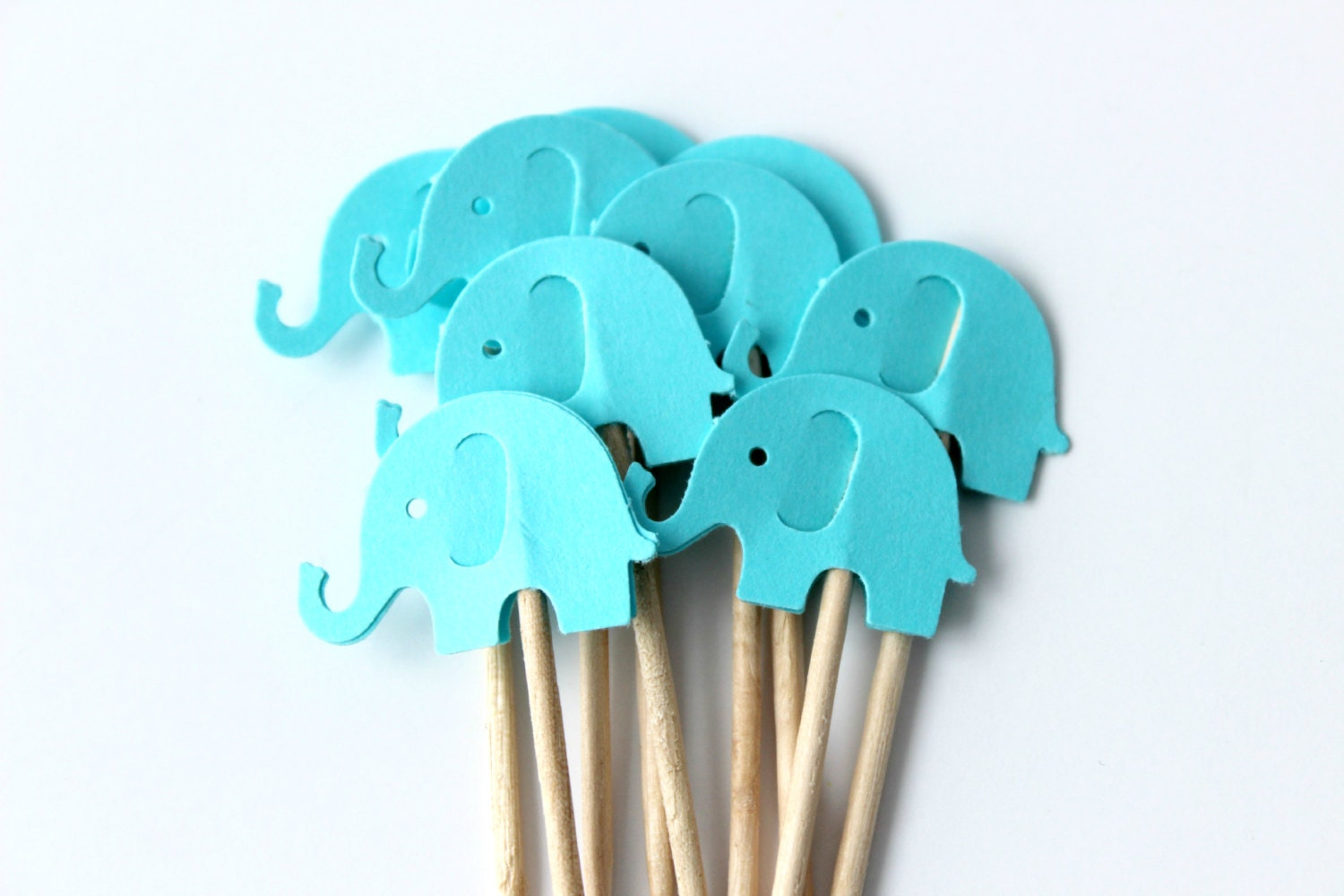 12 Elephant Cupcake Toppers Baby Showers Baby Birthday