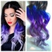 Purple and Blue Hair Clip Extensions, Blue Ombre Hair, Purple Ombre Hair, Weave, Human Hair, Full Set, Bundle, Lavender, Hippie Hair, Dread