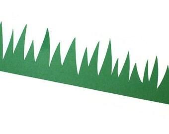 Grass die cut borders - 4 dies - choose your own die and color (C31)