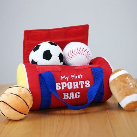 Baby Boy Gifts For 1st Birthday : Personalized my first sports bag children play set velcro