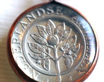 Dutch Antilles Coin Pendant